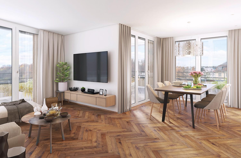 Wohnzimmer Krauerstrasse 4